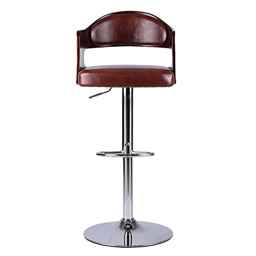 Stoff Akzent Möbel (Luxuriöse Mode Stuhl Barhocker Drehen / Heben Stuhl Stoff Rückenlehne Holz Kunst Hohe Hocker ( Farbe : A ))