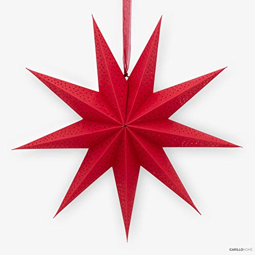 Riviera étoile décorative de noël Rouge Rouge