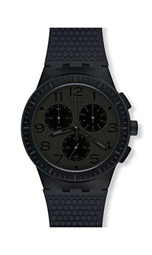 Swatch Reloj Cronógrafo para Hombre de Cuarzo con Correa en Silicona SUSB104