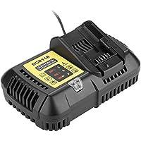 VBESTLIFE Cargador de Baterias para Reemplazo de Cargador DEWALT DCB118. Cargador Portátil Automático Inteligente para Batería Li-Ion 10.8V 14.4V 20V (MAX)(Negro)