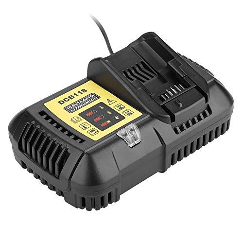 Eboxer 4.5A Lithium Batterieladegerät 100-240V für Ersatzschnellladegerät für Dewalt 10,8 V / 14,4 V / 20 V (Max) Lithium-Ionen-Akku(Schwarz) - Volt Dewalt Usb 20