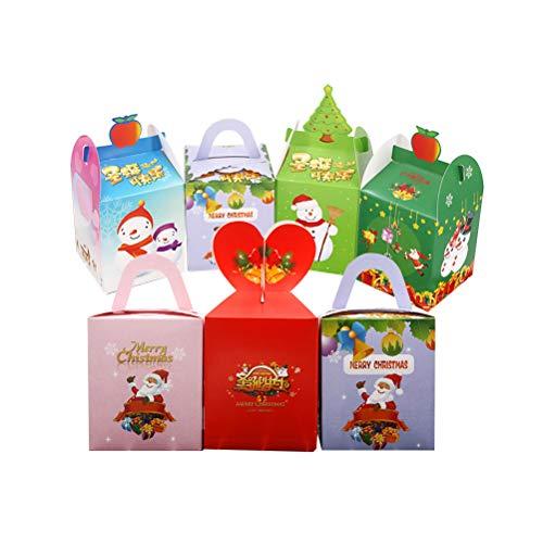 (Toyvian 12 stücke Weihnachten Geschenkbox Papier Apple Boxen Weihnachten Candy Box für Weihnachten Neujahr Urlaub)