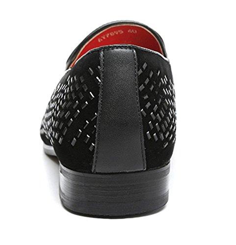 New England Diamant Faulenzer Männer Casual Schuhe Mode Schuhe mattschwarz Black