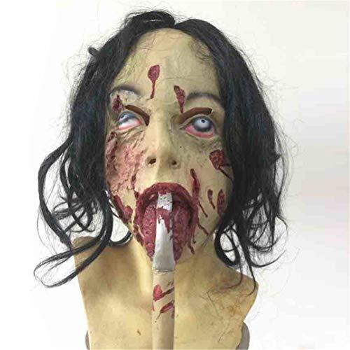Jiahe Latexmaske Halloween Horror Thriller Dekorative Maske beängstigend Spielzeug Requisiten, Einheitsgröße, Geeignet für die meisten Erwachsenen