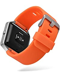 Cellfather™ Watch Band Replacement Wristband Strap for Fitbit Blaze(Small) Orange