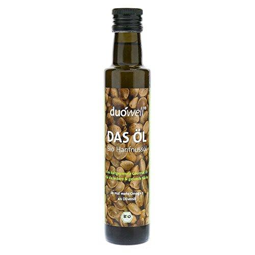 duówell DAS ÖL Hanfnussöl Bio Hanföl kaltgepresst, nativ, Omega-3 reich, 250 ml