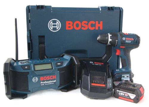 Preisvergleich Produktbild Bosch 0601429902 Akkubohrschrauber GML-GSR 18 V-LI 2x4,0 Ah - L-Boxx