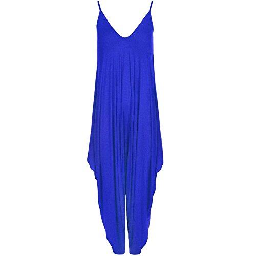 Lagenlook larghi da donna modello Strappy Harem Play-Costume da pilota, Uomo, blu, one size(8-26)