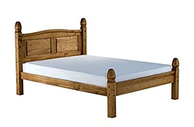 Birlea Corona Waxed Pine Low End Bed - Brown - low-cost UK light shop.