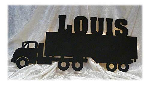 Schlummerlicht24 LKW Truck Lampe mit Name nach Wunsch, ideale Deko Led Geschenke für LKW Fahrer Männer -