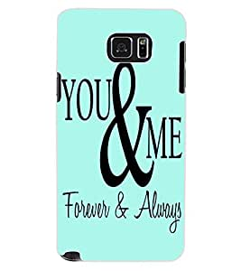 ColourCraft Quote Design Back Case Cover for SAMSUNG GALAXY NOTE 5