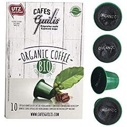 CAFES GUILIS DESDE 1928 AMANTES DEL CAFÉ - Cápsulas de Café Orgánico Compatibles con Máquinas Nespresso 100 unidades