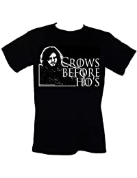CROWS BEFORE HO'S (Game Of Thrones/John Snow) T-SHIRT Sizes S-4XL Funny GOT parody tee