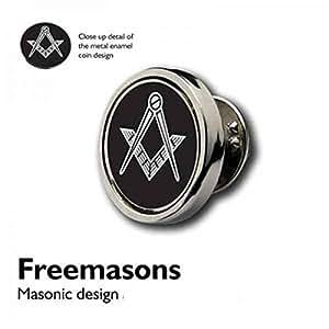Pièce Design Regalia Sign Badge à épingle de revers/Maçonnique plaqué argent