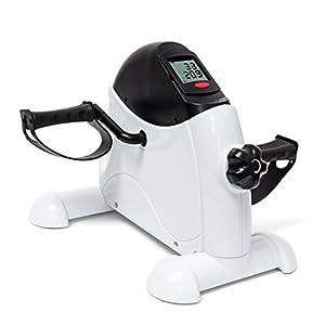 Relaxdays Mini Heimtrainer HBT 31 x 36 x 41 cm Fahrradtrainer zum Ausdauertraining zu Hause idealer Beintrainer und Armtrainer für Konditionstraining und Muskelaufbau für mehr Fitness, weiß