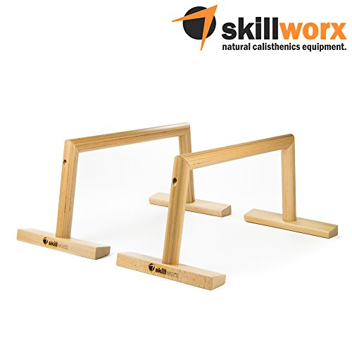 skillworx High Parallettes: Lucent Edition - Calisthenics Liegestützgriffe aus Holz, made in Austria