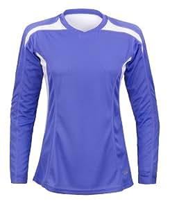 Velocity Jogging-Shirt mit langen Ärmeln, Oberteil für Damen 38 Immergrün/Weiß