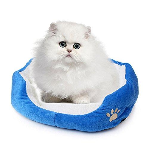 Saflyse Schöne Tierbett Hundebett Haustier Katzenbett Hundesofa Katzensofa (blau)