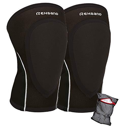 Ziatec Rehband PRN Knee Pad 3mm Edition, Knieschoner, Kniebandage, Handball-Knieschutz, Größe:XL, Farbe:Schwarz - 1 Paar