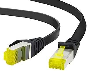 Adwits 2 X 0 25m Cat 7 Netzwerkkabel Flach Cat 7 Computer Zubehör