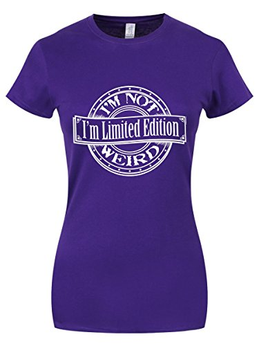T-Shirt I'm Not Weird I'm Limited Edition da donna in viola
