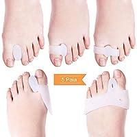 LOETAD 10 Pezzi Separatori Dita per Correttore Alluce Valgo Piede Dita Per Camminare Protezione per Dolore Piede, Avampiede, Metatarso, Pianta del Piede
