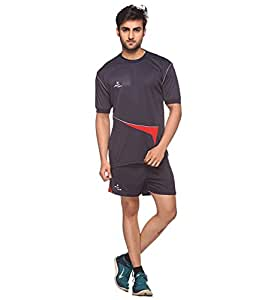 Sport Sun Polyester Kabaddi Halfpaint and T-short Set Navy (M)