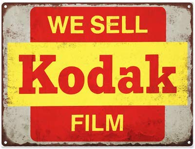 Rebecca Simpson We Sell Kodak Film Photo Picture Camera Metal Sign Repro 9x12