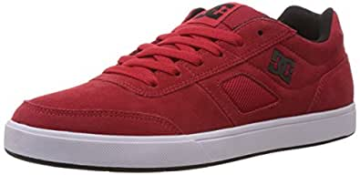 DC Men's Cue M Shoe Red and Black Leather Sneakers - 9.5 UK/India (44 EU)(10.5 US)