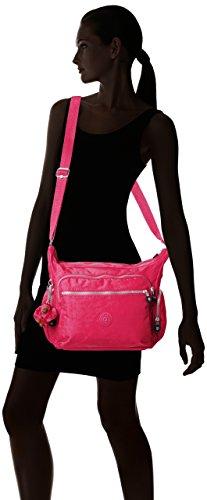 Kipling - Gabbie, Borse a Tracolla Donna Rosa (Pink (flamboyant Pink))