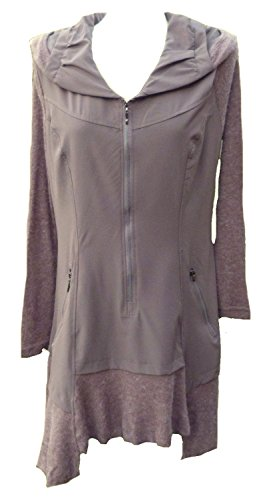 Vintage maglia tunica Dress Plus SZS. Boho Hippy Peasant Lagenlook- Brown/Taupe 44