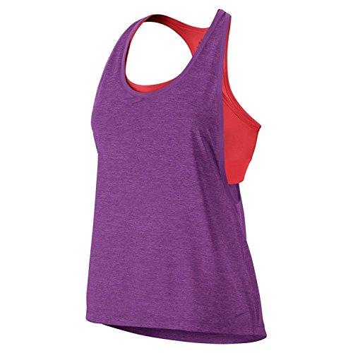 Inside Loose Tank Top Cosmic Purple/Htr/Lt Crimson/Purple Large (Damen Nike Loose Tank Top)
