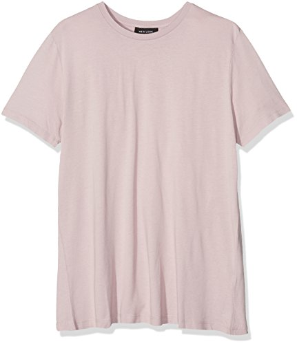 New Look Silk Touch Boyfriend Tee, Chemise Femme Rose (Mid Pink)