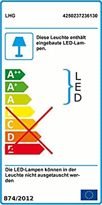 Moderner LED Deckenfluter mit Lesearm - Fluter mit drehbarem Innenring Stehleuchte - LED-Leuchtmittel inkusive + LED-Taschenlampe