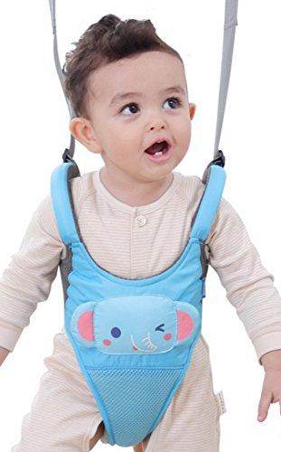 Happy Cherry Unisex Baby Walking Assistant Lauflernhilfe Sicherheitsgeschirr Kleinkind Abnehmbarer Griff Auffanggurt für Baby 10-18 Monate-Elefant