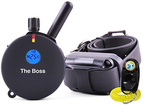 E-Collar ET-800 Set mit 2 Stück - 2 Stück - 1 km wiederaufladbarer Fernbedienung Wasserdicht Trainer Pädagogator - Statische Vibration und Geräuschstimulation mit PetsTEK Hundehalsband -