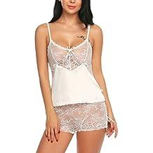 61a76862d4 Avidlove Damen Sexy Negligee Babydoll Nachtwäsche Nachtkleid Nachthemd  Kleid Lingerie Dessous Set mit Wickeloptik