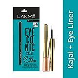 #6: Lakme Eyeconic Kajal, Black, 0.35g with Lakme 9 to 5 Impact Eye Liner, Black, 3.5ml