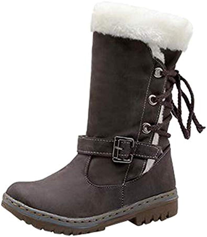 Fuxitoggo Classics donna Snow Snow Snow stivali Fashion Flat Heels Winter scarpe Stivali di Pelliccia Calda (Coloreee   Marronee... | Stile elegante  | Scolaro/Signora Scarpa  bc472c