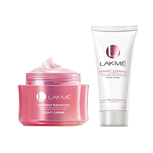Lakme Perfect Radiance Intense Whitening Light Creme, 50g with Whitening Face Wash, 50g  available at amazon for Rs.435