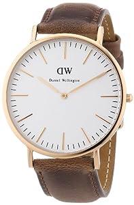 Reloj Daniel Wellington 0110DW de cuarzo para hombre con correa de piel, color marrón de Daniel Wellington