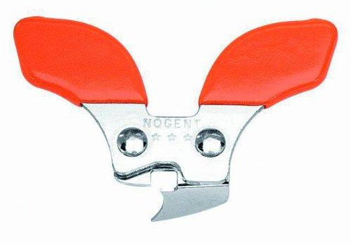 Nogent 4024 Mini-Kim - Apriscatole specifico per mancini, colore: Arancione/Naturale acciaio