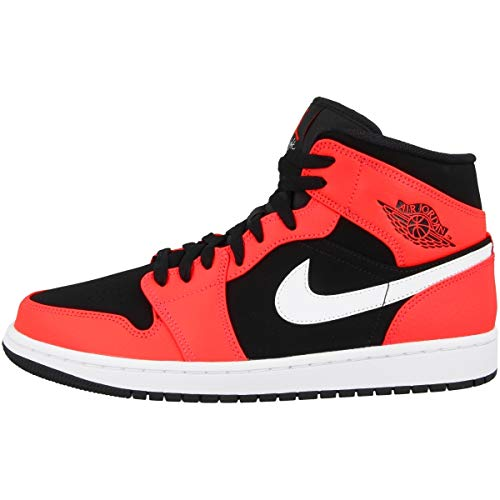 save off 6600f 32448 Nike Men s AIR Jordan 1 MID Basketball Shoes, Mehrfarbig (Black Infrared 23-