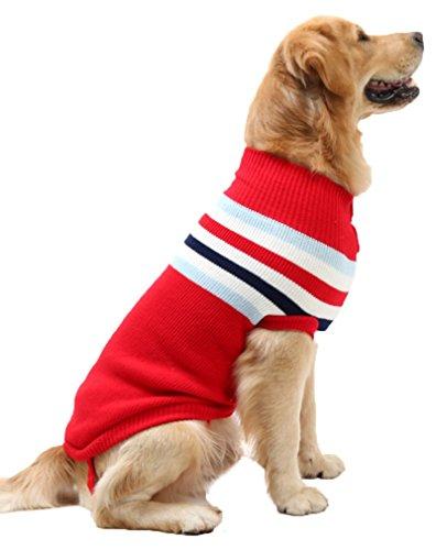 16a107ce72 PassMe Vestiti Cane Maglione Maglia Per Cani Grandi Maglieria Caldo  Invernale Dolcevita Cappotto Animale Domestico Costume