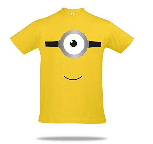 Shirtcharts Ich-Bin-Ein-Minion-SHIRT-T-shirt-Gelb-Minions-Movie-Homage-XS-S-M-L-XL-2XL-5XL (Ich Minions, Halloween)