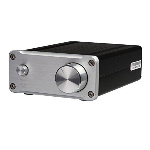 SMSL SA-36A Pro HiFi Audio Stereo Digital Verstärker mit 12V Netzteil Silber 12 Digital-audio