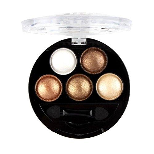 5 Farben Glänzend Matt Make up Lidschatten Palette Kosmetischer MakeupInternet 5 Optimal Aufeinander Abgestimmte Farben,für ein professionelles Schmink-Ergebnis, mit ultra-feinen, schimmernden Farbpigmenten, Ideales Geschenk (6#) -