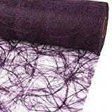 25m Sizoweb ® Original Tischband Tischläufer Tischdeko Faserseide 30cm / 300mm, Farbe:lila