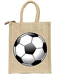 Deshi Decor Unisex Jute Bag with Zip(Multicolour)