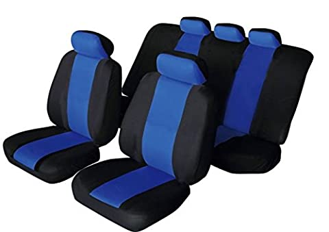 Ford Fiesta Universal SPORTY Fabric Car Seat Covers BLACK & BLUE